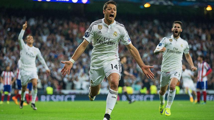 Javier Hernández consiguió el gol que le dio el pase al Real Madrid en la Champions