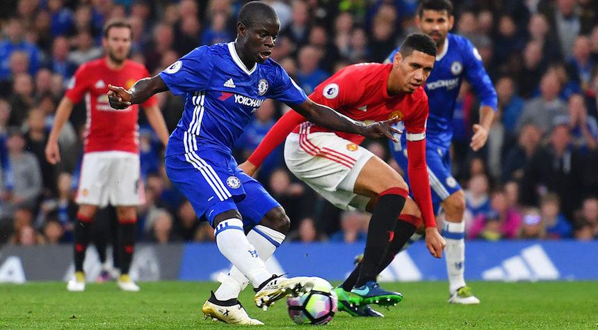N'Golo Kante marcó el cuarto gol en el triunfo de su club