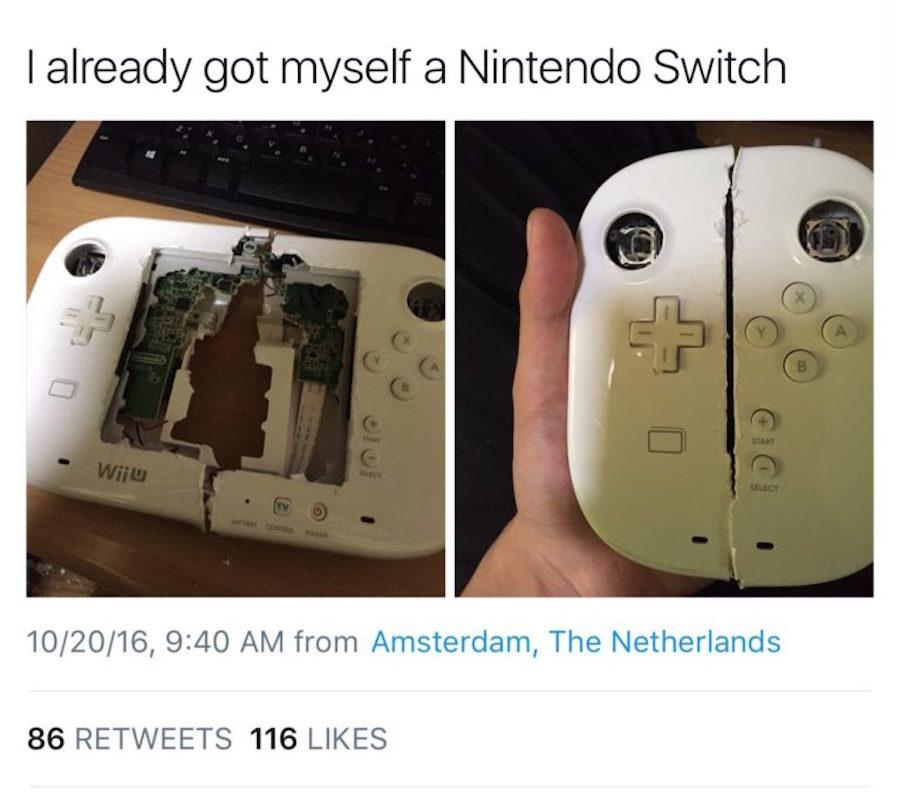 Nintendo Switch - Meme de la Wii U