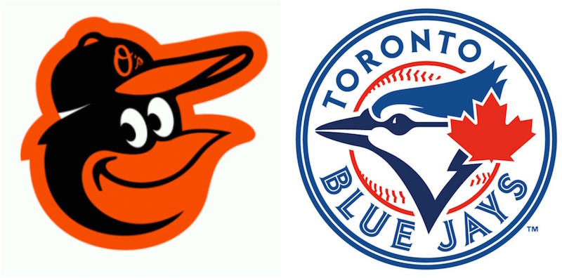 Orioles versus Bluejays