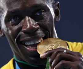 Usain Bolt medalla