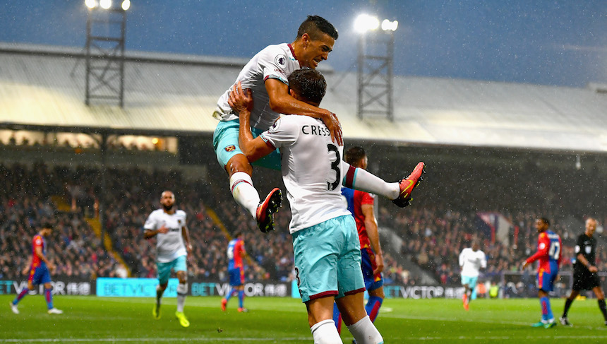 El West Ham comenzó dando la sorpresa y se arriba 0-1 contra el Crystal Palace