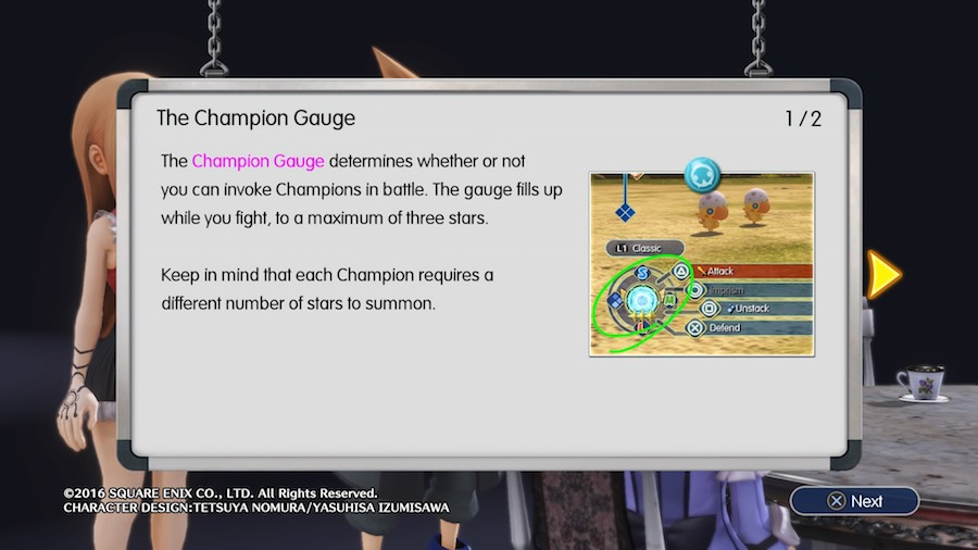 World of Final Fantasy Champion Gauge
