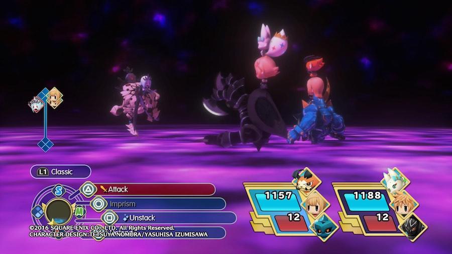 World of Final Fantasy Modo Activo/Pasivo