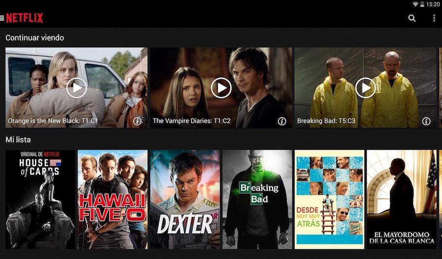 Netflix - Aplicación