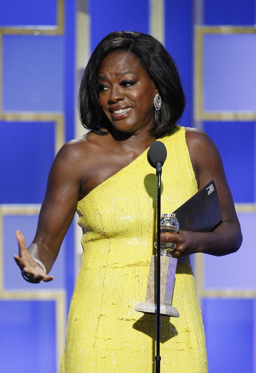 Viola Davis Fences Golden Globes