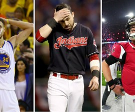 Falcons, Warriors e Indians perdiendo sus finales