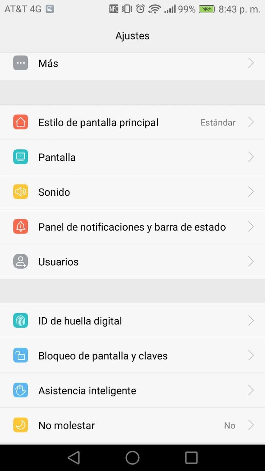 Configuración - Android
