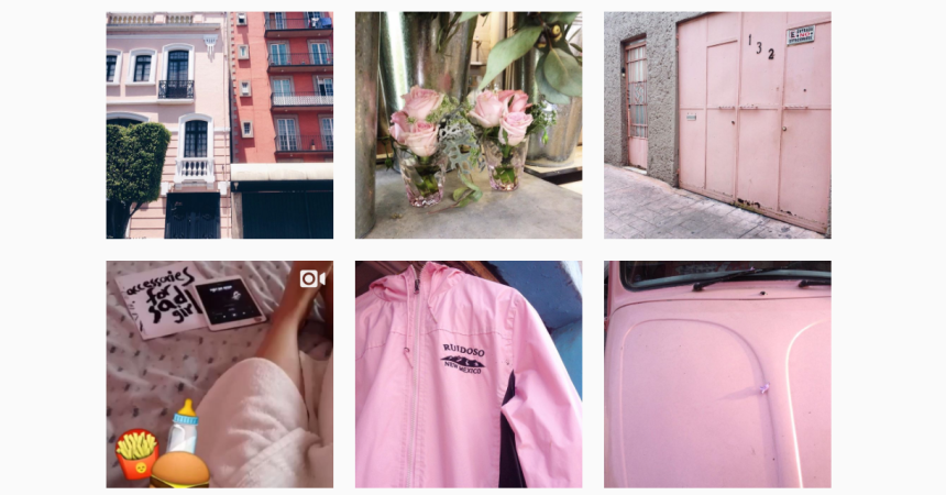 Fotos en Instagram color 'millenial pink'