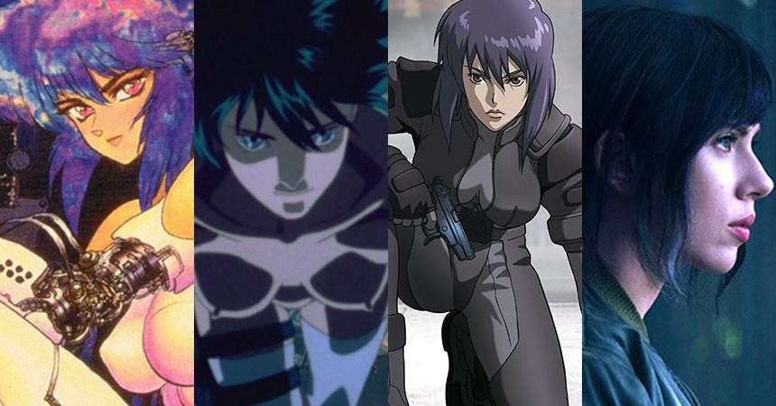 Los varios rostros de Motoko Kusanagi