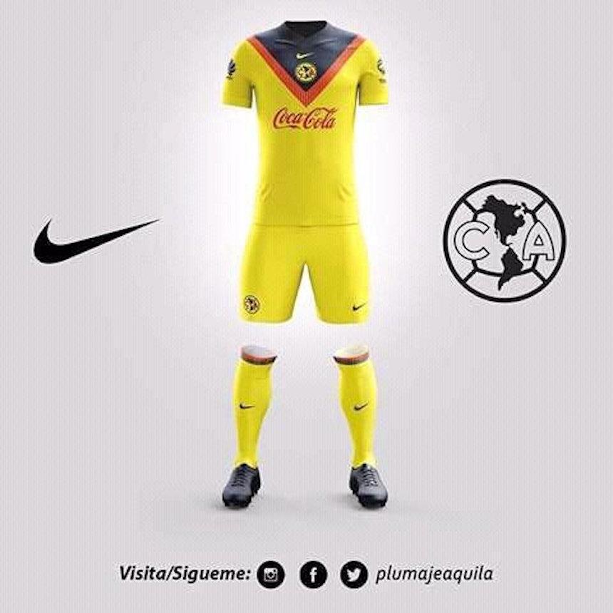 Estas son las propuestas de un fan para el siguiente for Cuarto uniforme del club america