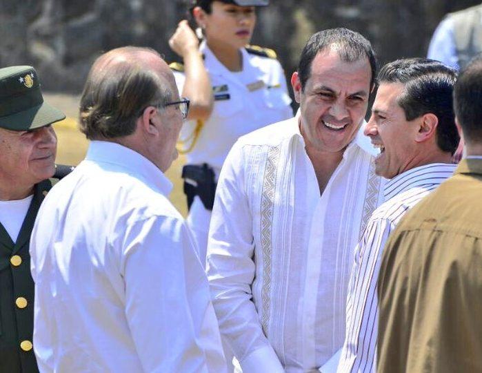 Graco Ramírez, Cuauhtémoc Blanco y Enrique Peña Nieto