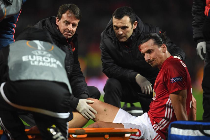 Zlatan Ibrahimovic lesionado