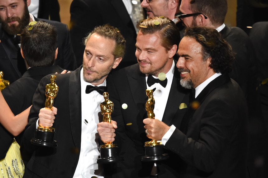 Alejandro González Iñárritu, Emmanuel Lubezki y Leonardo DiCaprio