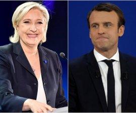 Marine Le Pen y Emmanuel Macron, los candidatos en la Segunda Vuelta en las elecciones de Francia