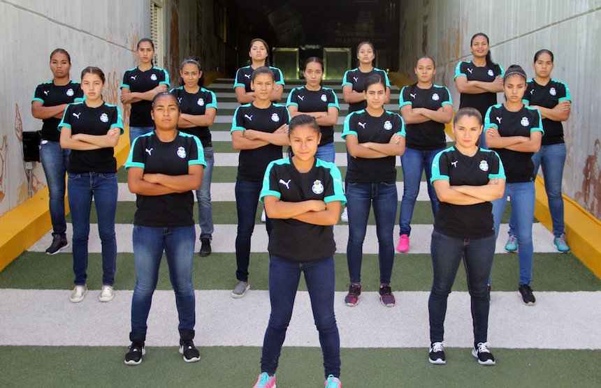 Equipo de Santos para la Liga MX Femenil