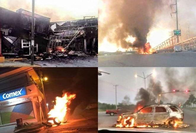 Incendios y bloqueos en Reynosa Tamaulipas