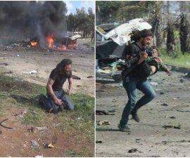 Fotógrafo de Siria dejó su cámara y auxilió a niños