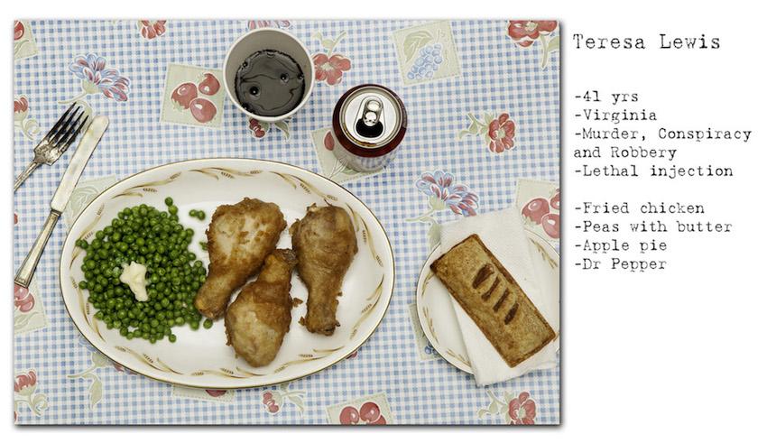 Comida de Teresa Lewis
