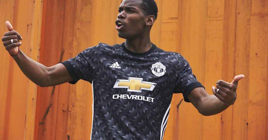manchester united uniforme visitante