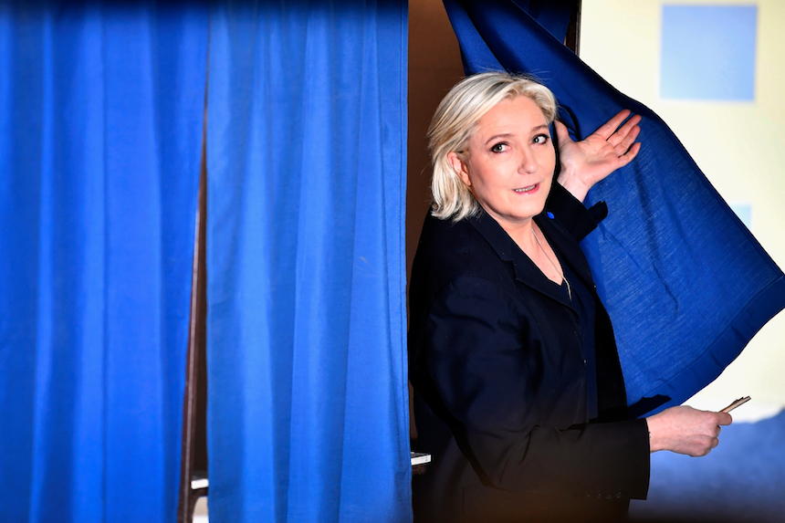 Marine Le Pen, candidata a la presidencia de Francia