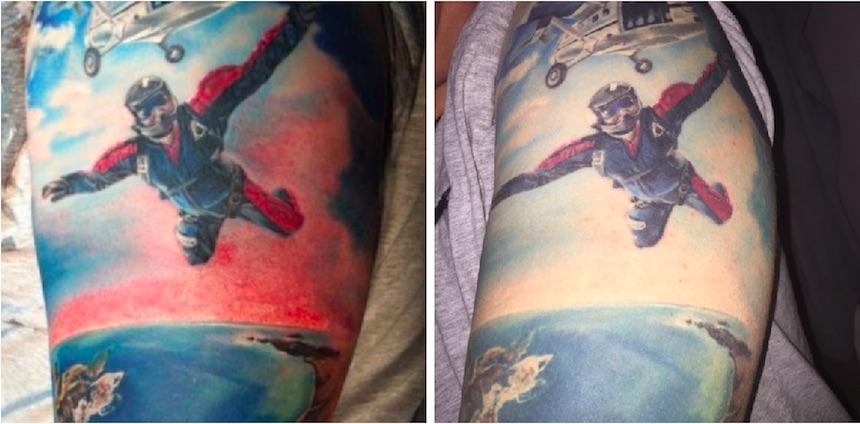 Tatuajes - Paracaídas