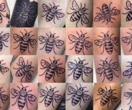 Tatuajes Abejas en Manchester