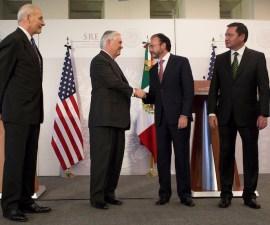Osorio Chong, Videgaray, Rex Tillerson y John Kelly (Renegociación del TLCAN)