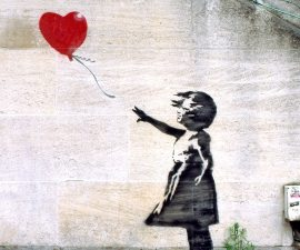 """Girls with Ballon"", Banksy"