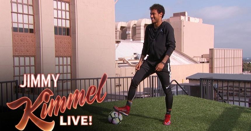 Neymar con Jimmy Kimmel