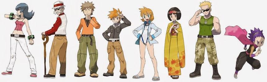 Pokémon Líderes de Gimnasio Kanto