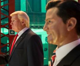 Figuras de cera de Enrique Peña Nieto y Donald Trump