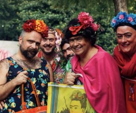 Frida Fest - Reunión de personas disfrazadas como Frida Kahlo