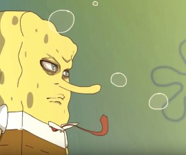 Bob Esponja con su intro de anime