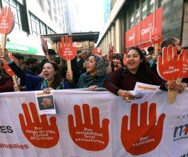 marcha a favor del aborto en Chile