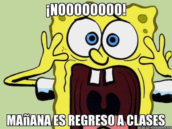 meme de regreso a clases