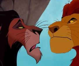 Scar y Mufasa - El Rey León