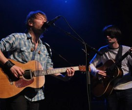 Thom Yorke y Jonny Greenwood de Radiohead.