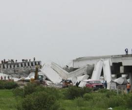 puente que colapsó por sismo