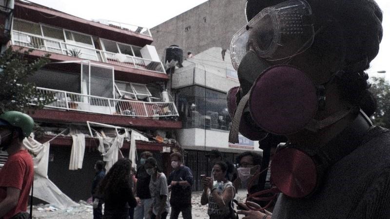 Trabajos de rescate en la CDMX