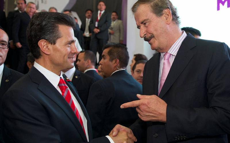 Vicente Fox y Enrique Peña Nieto