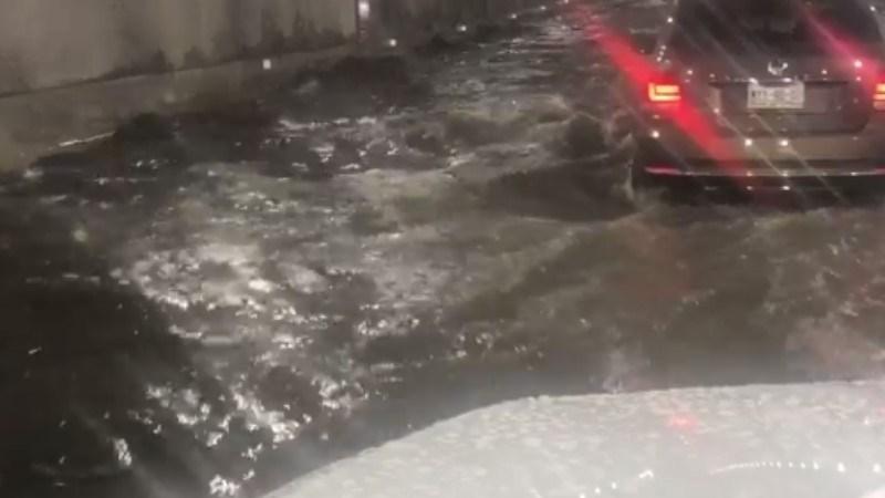 Inundación en túnel de Mixcoac