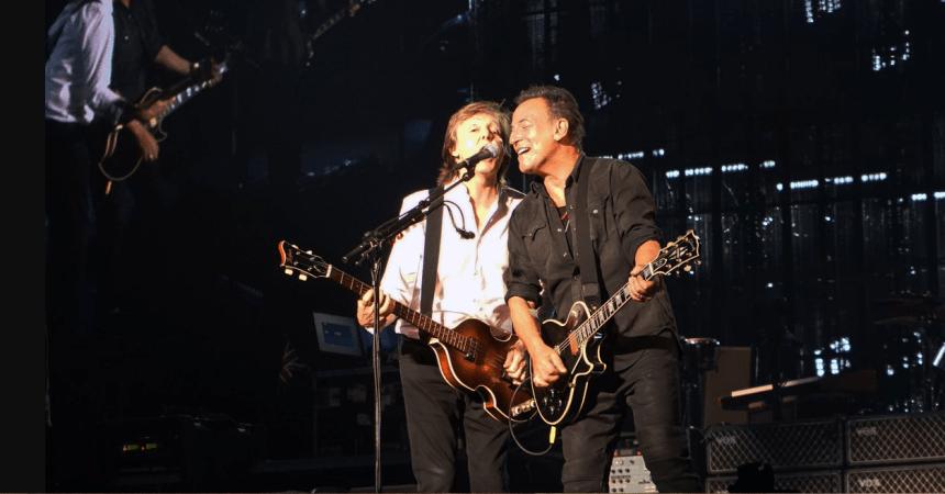 Paul McCartney y Bruce Springsteen