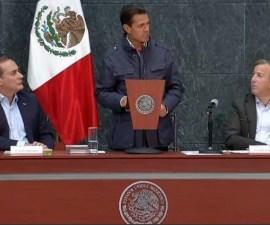 Presidente EPN hablando sobre reconstrucción