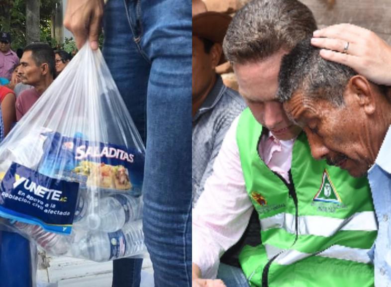 Ayuda que ofrecen gobernadores de Veracruz y Chiapas