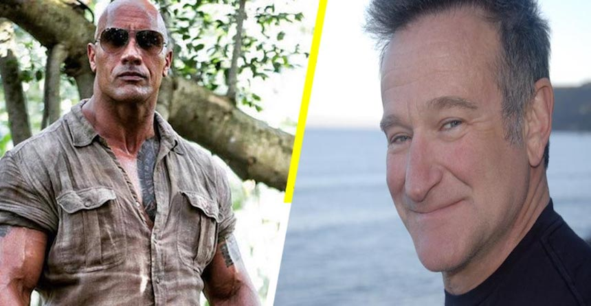 Dwayne Johnson - Homenaje a Robin Williams en Jumanji