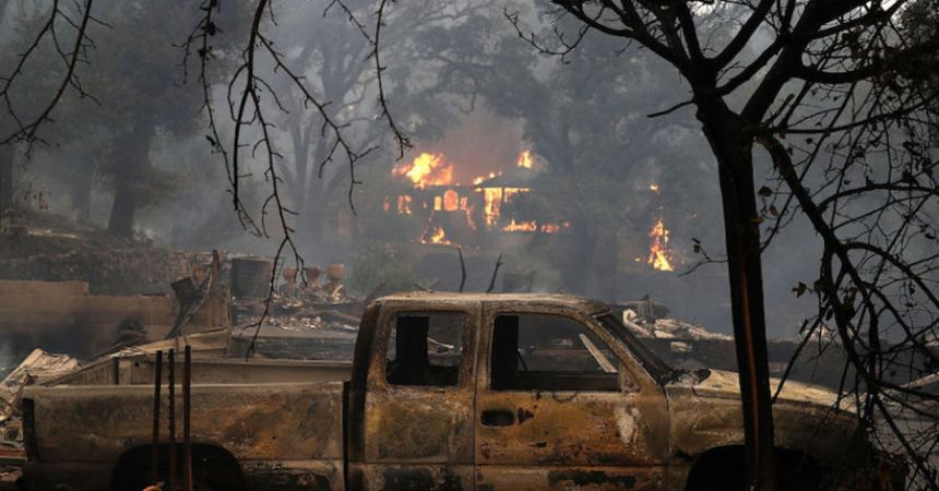 California, incendio