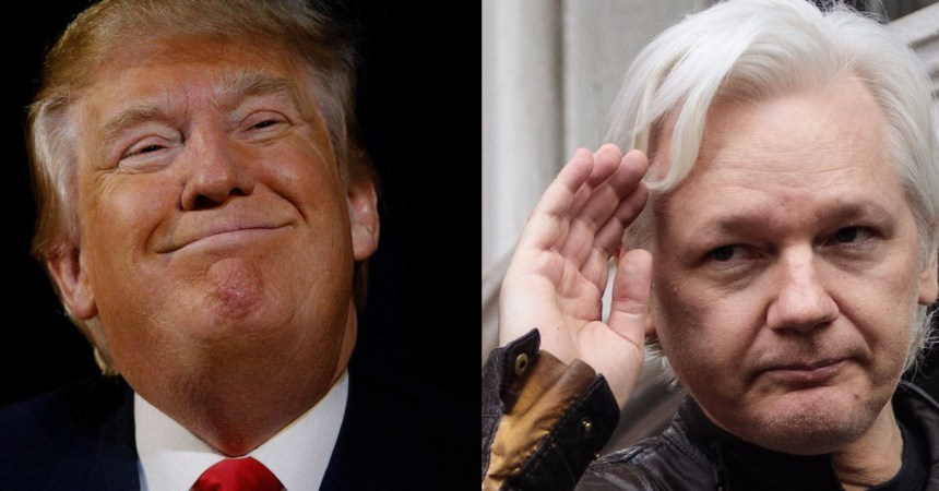 Donald Trump y Julian Assange