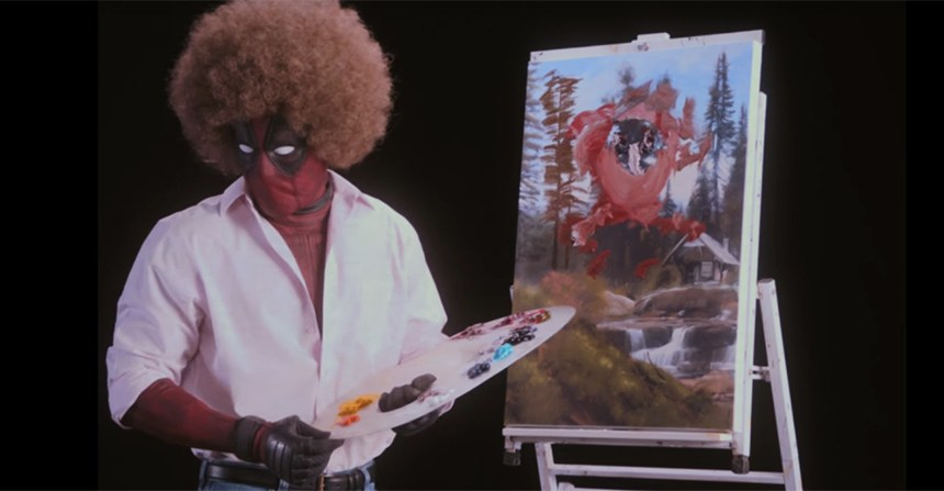 Deadpool se convierte en Bob Ross en el teaser 'Wet on Wet'