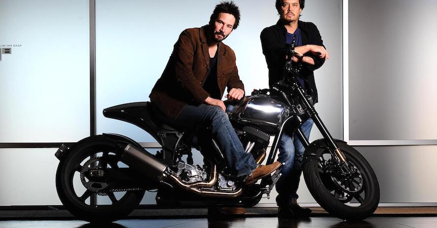 Keanu Reeves y su negocio de motocicletas